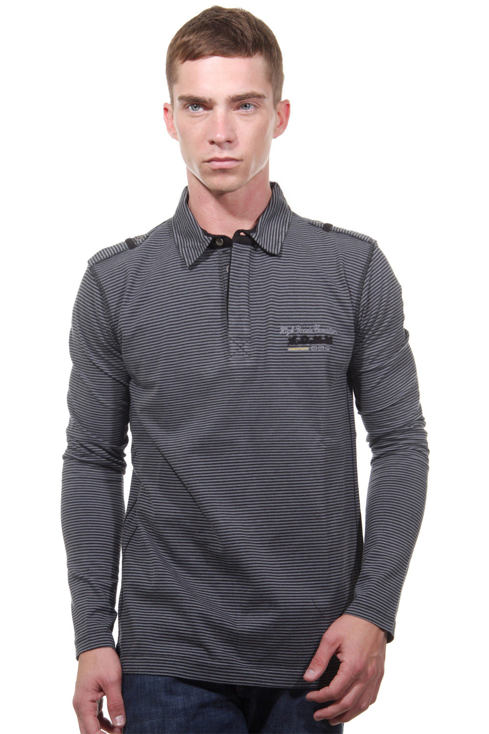 XINT polo long sleeve top slim fit at oboy.com