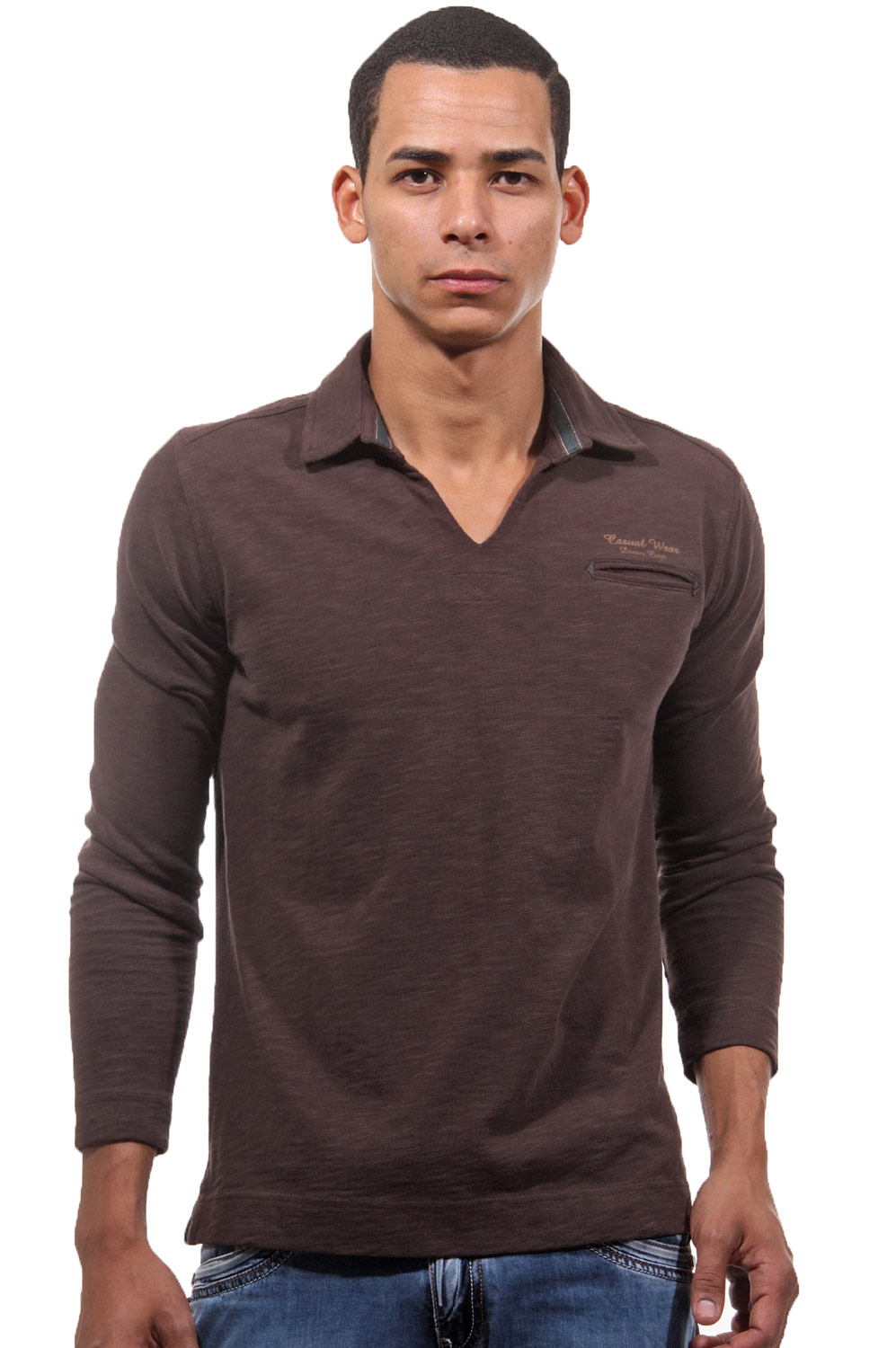 XINT polo long sleeve top at oboy.com