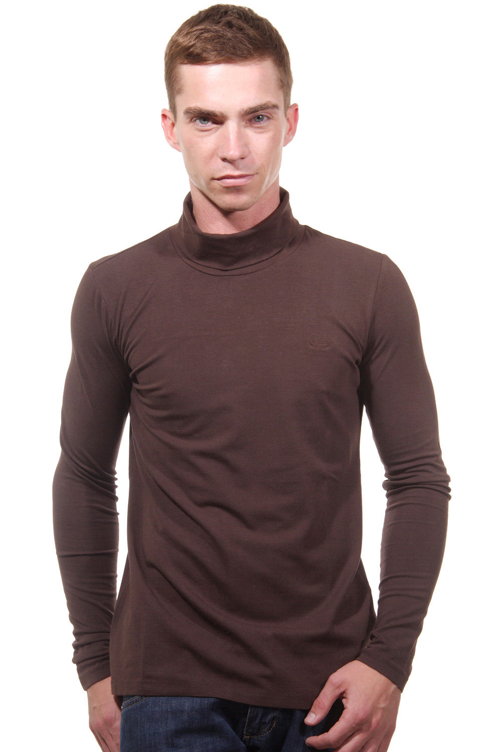 XINT long sleeve top turtleneck slim fit at oboy.com
