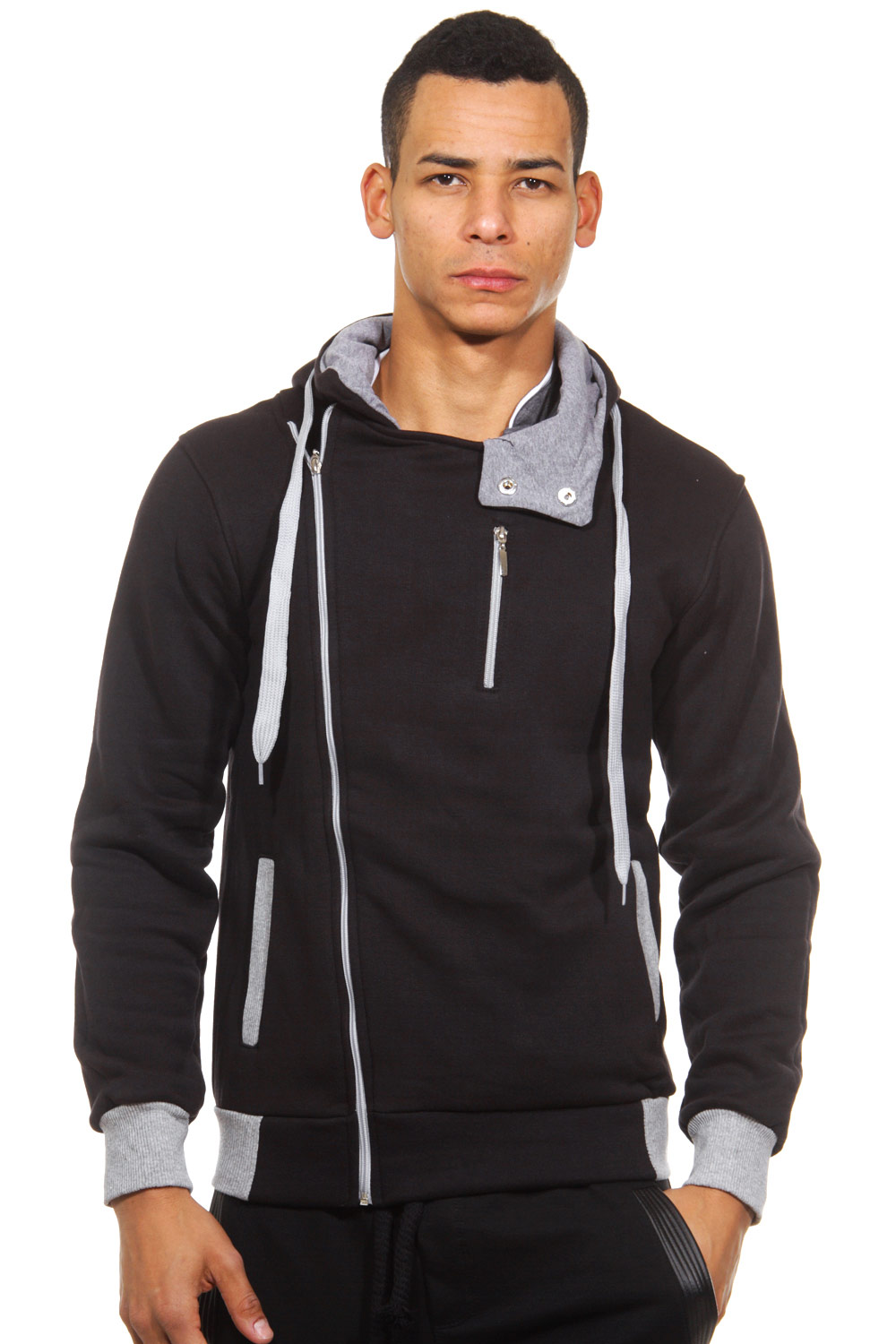 FIYASKO hoodie sweat jacket slim fit at oboy.com