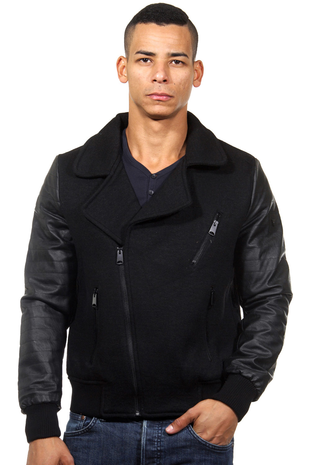 OPEN jacket revers collar slim fit at oboy.com