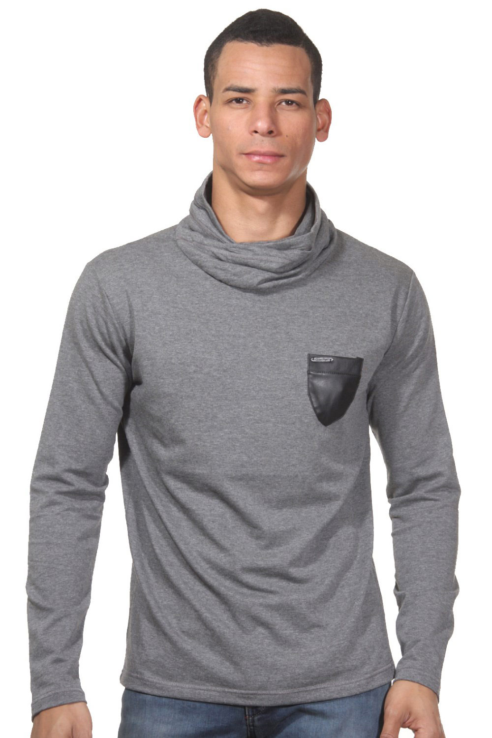 OPEN long sleeve top rollneck slim fit at oboy.com