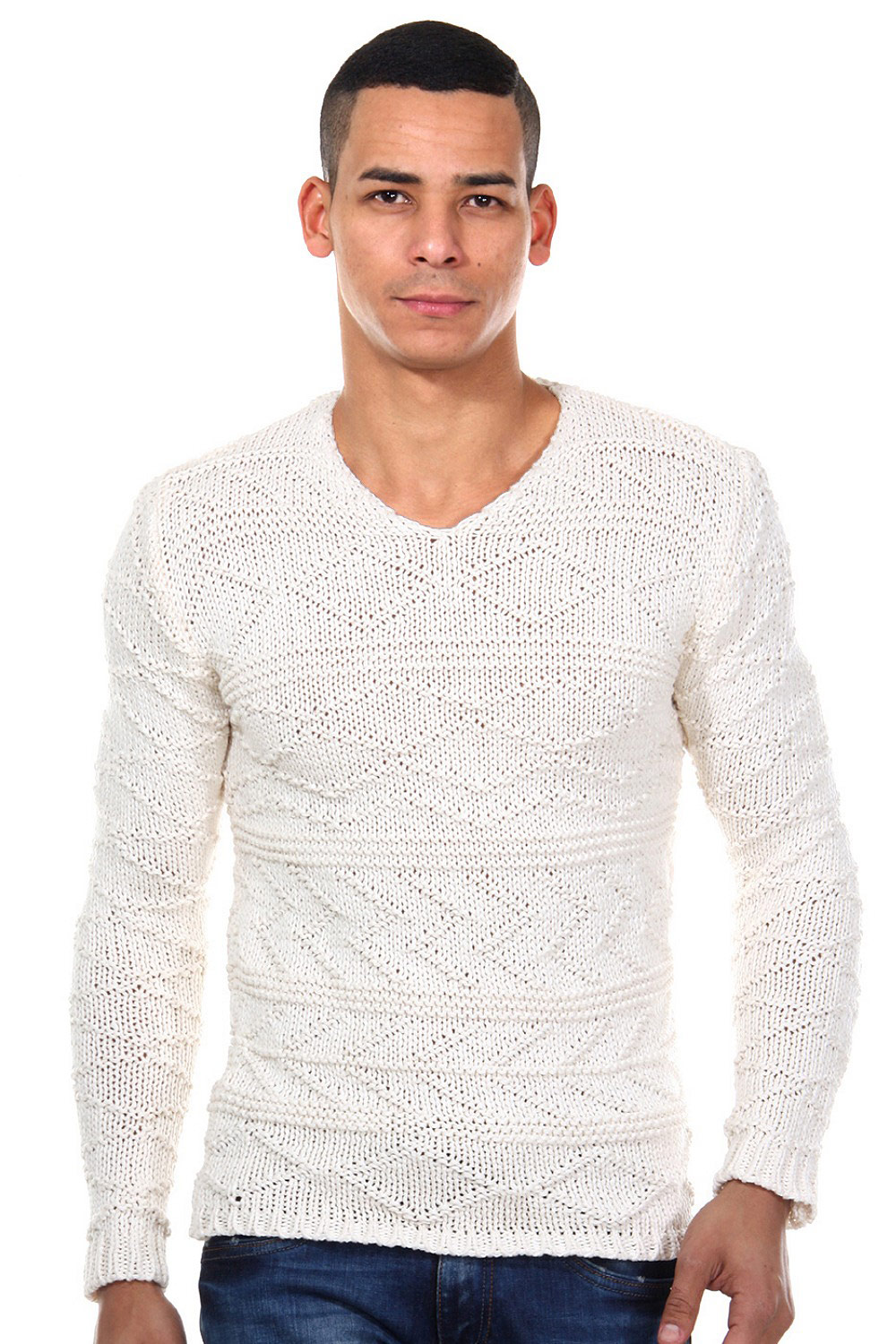 R-NEAL jumper v-neck slim fit at oboy.com