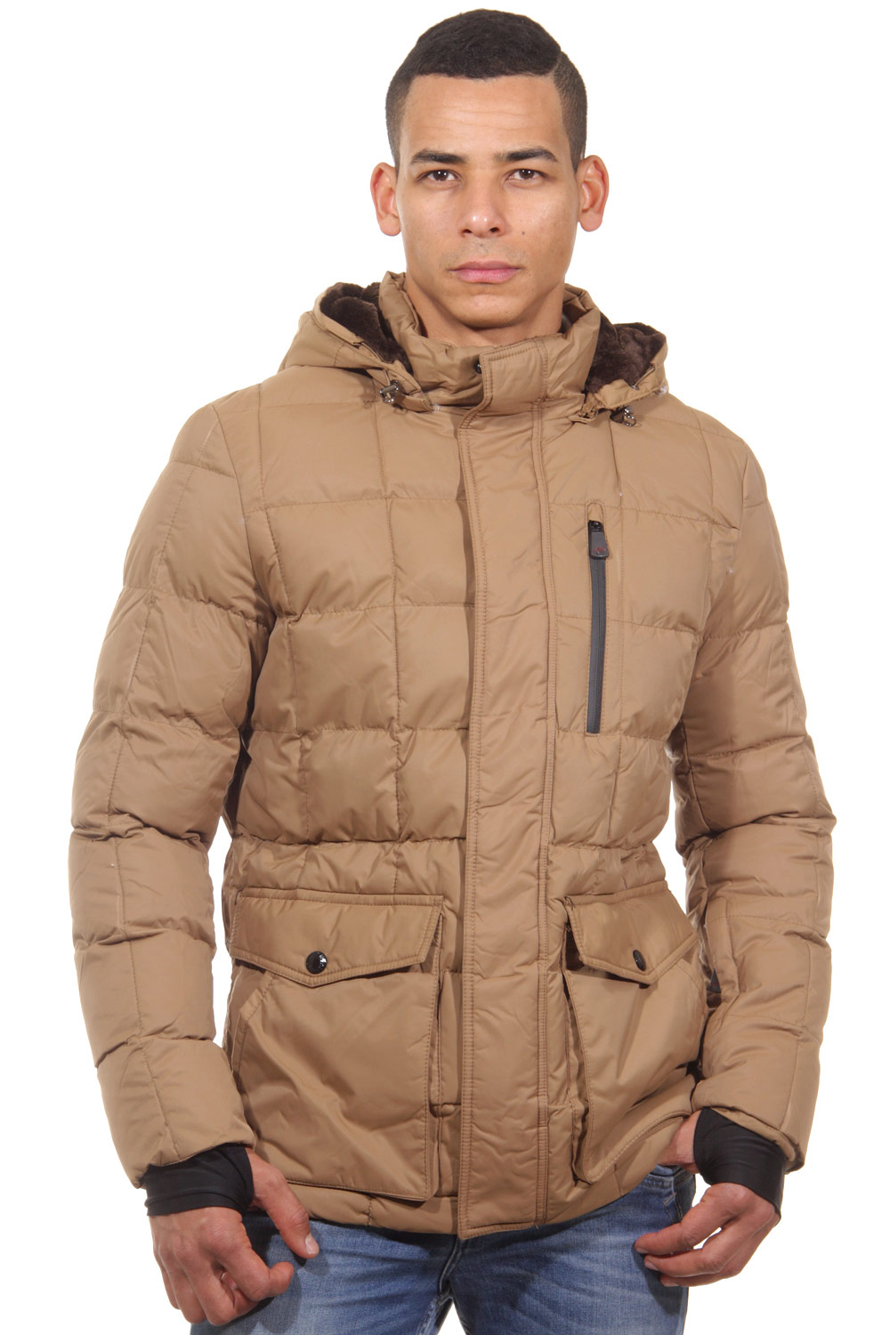 R-NEAL quilted jacket regular fit at oboy.com