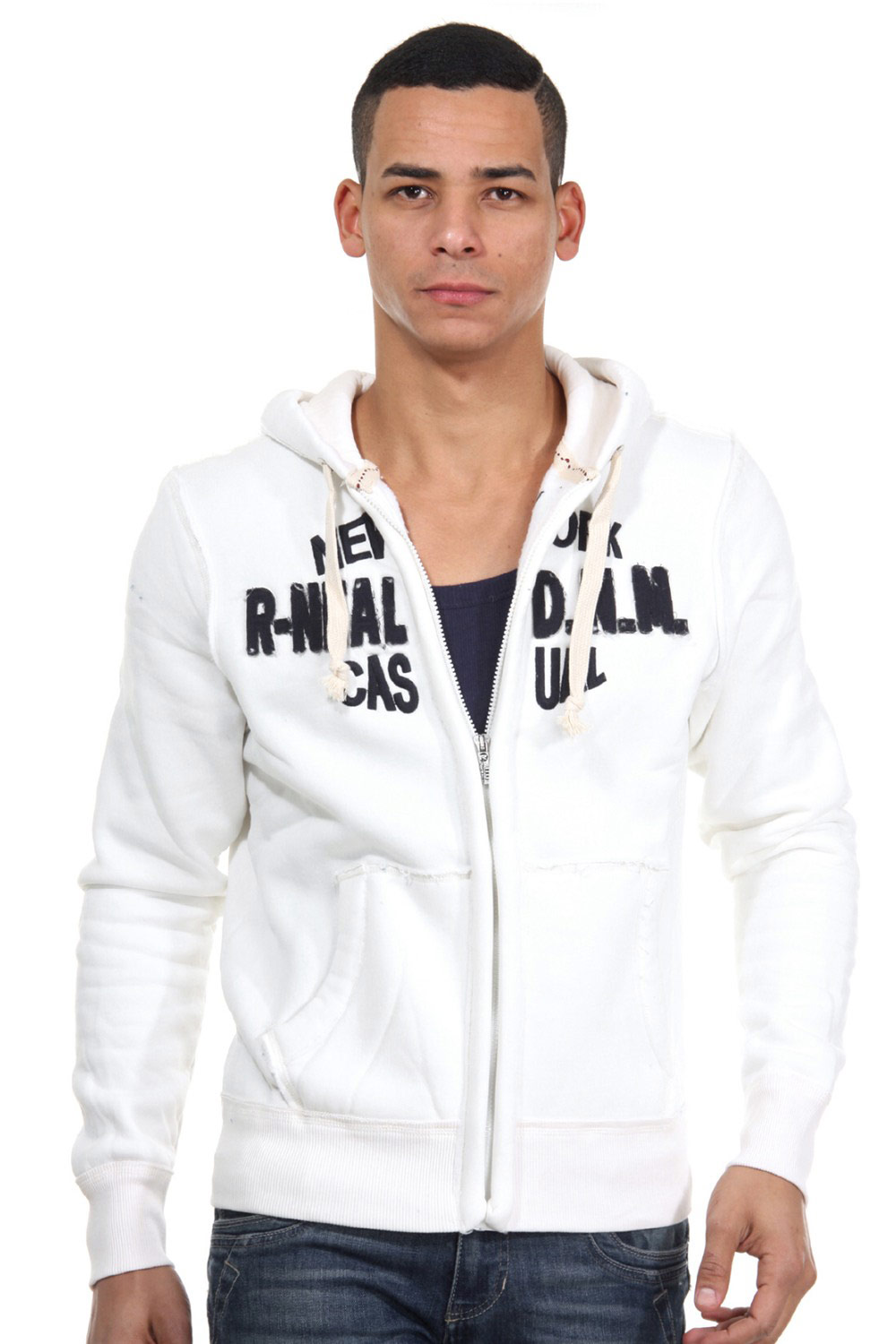 R-NEAL hoodie sweat jacket regular fit at oboy.com
