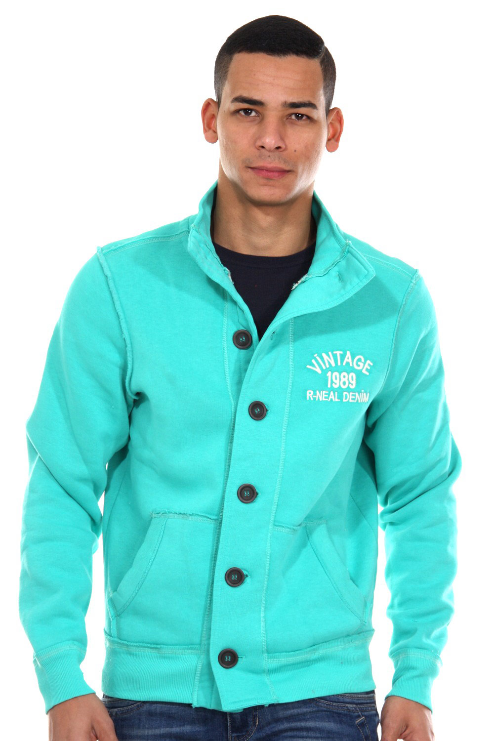 R-NEAL sweat jacket regular fit at oboy.com