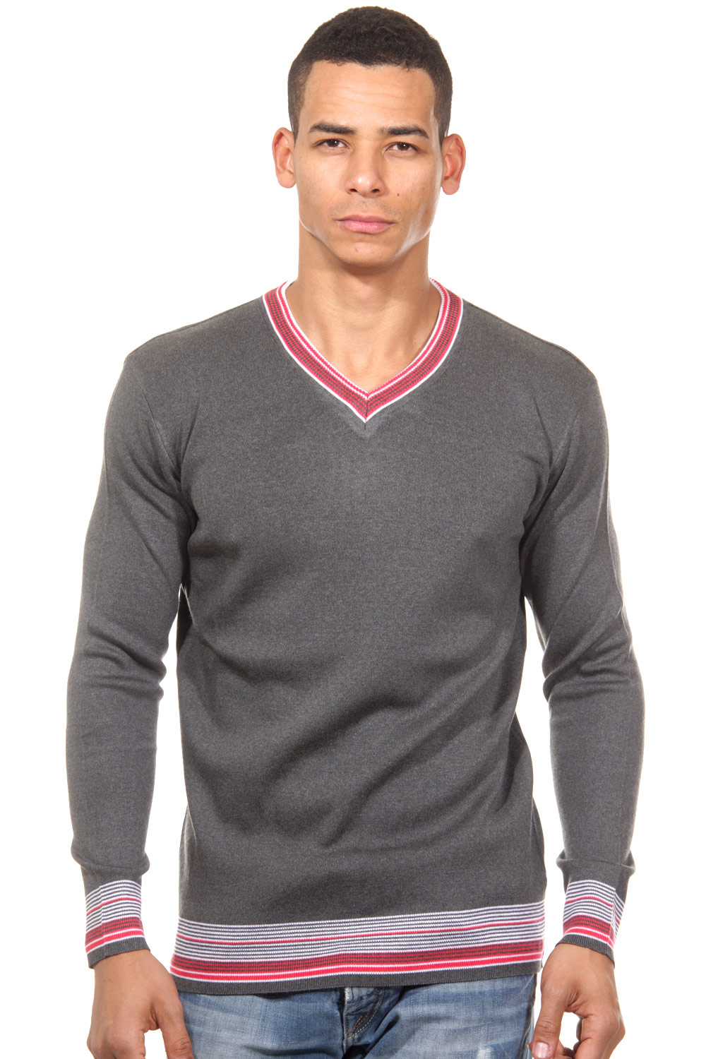 DIFFER jumper v-neck slim fit at oboy.com