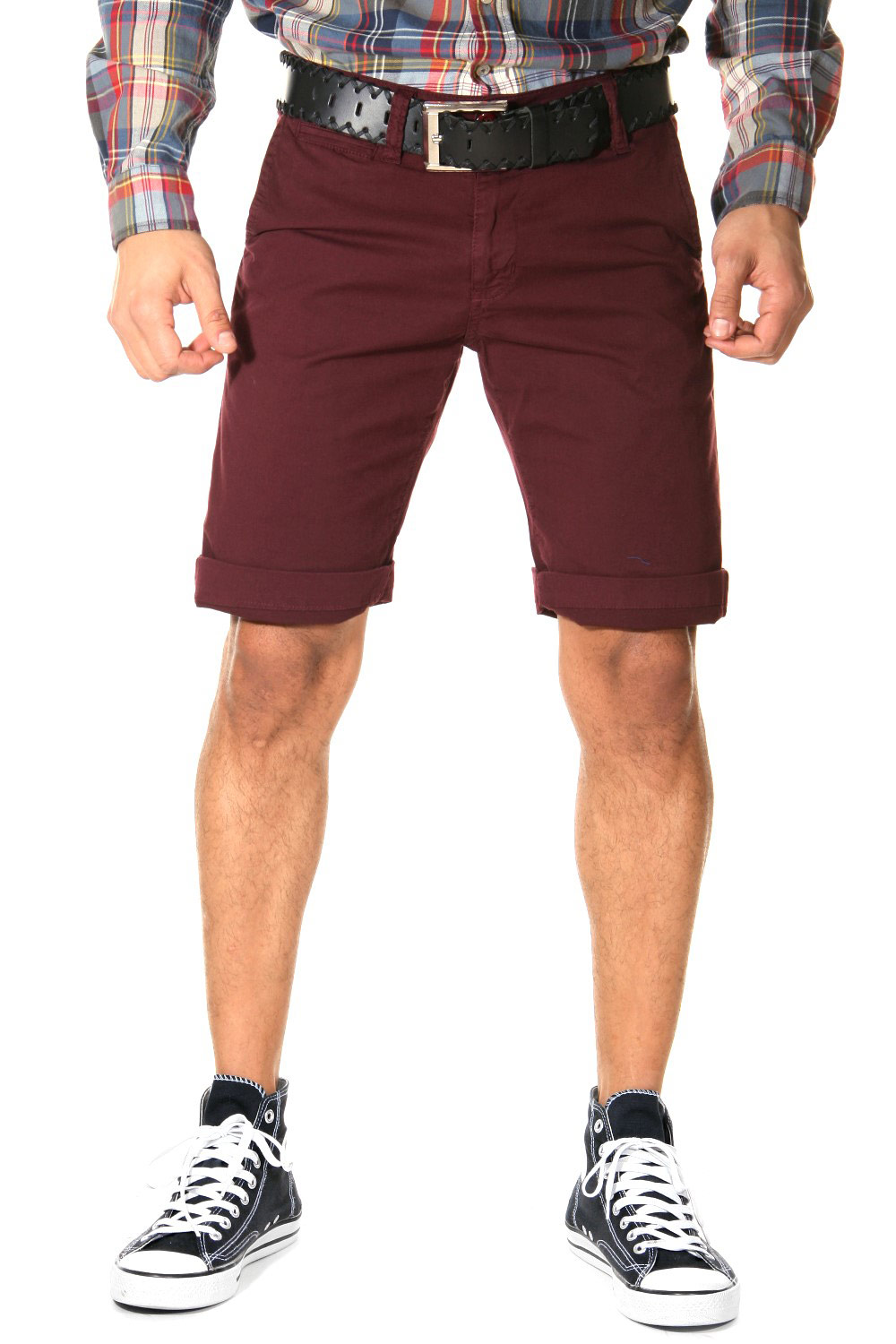 BRIGHT chino shorts at oboy.com