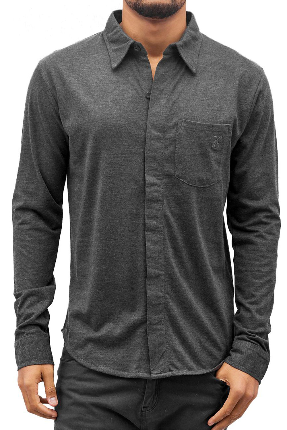 CAZZY CLANG Shirt Anthracite at oboy.com