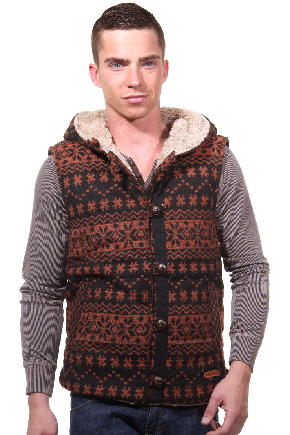 CATCH hoodie vest regular fit at oboy.com