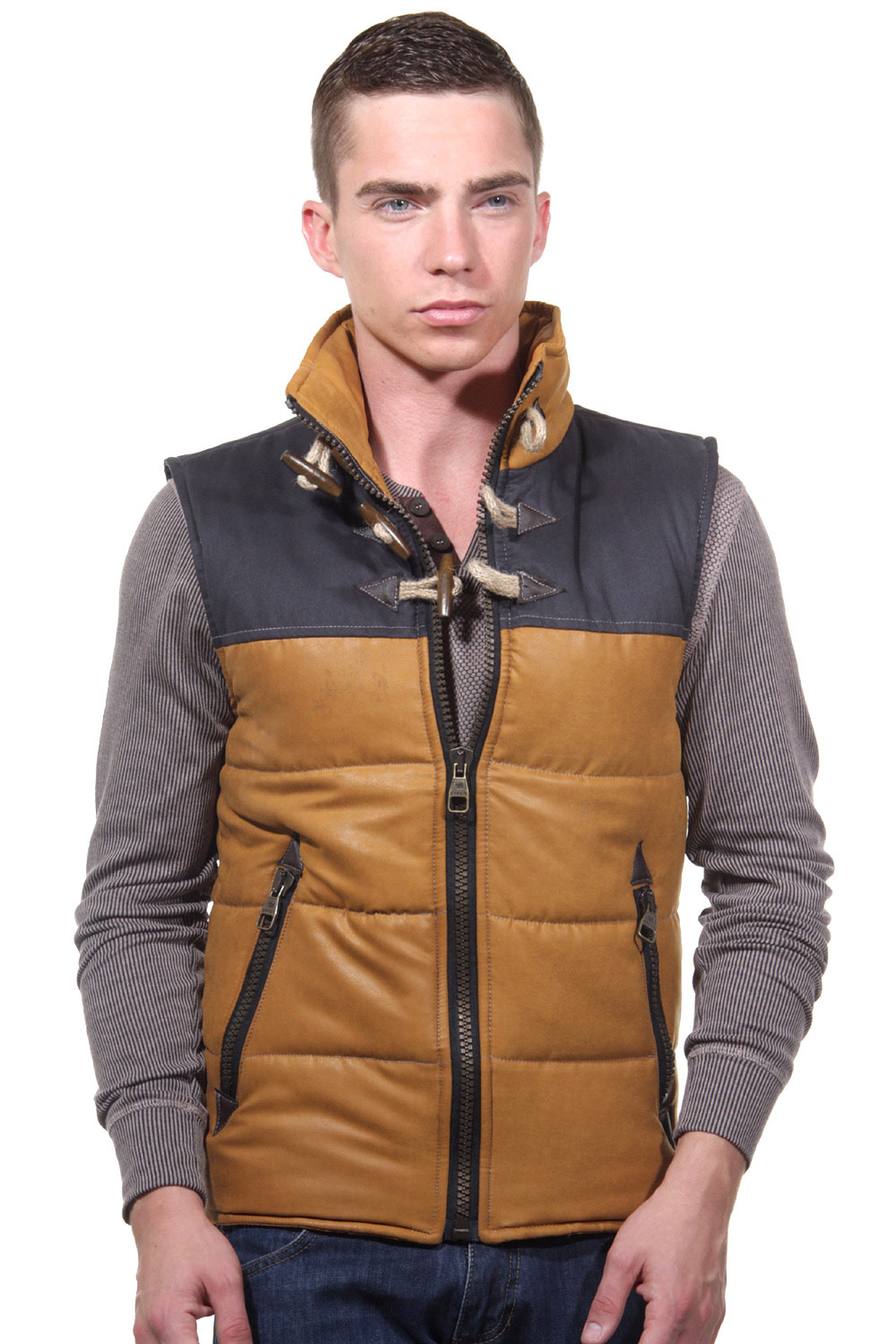 CATCH quilted vest slim fit at oboy.com