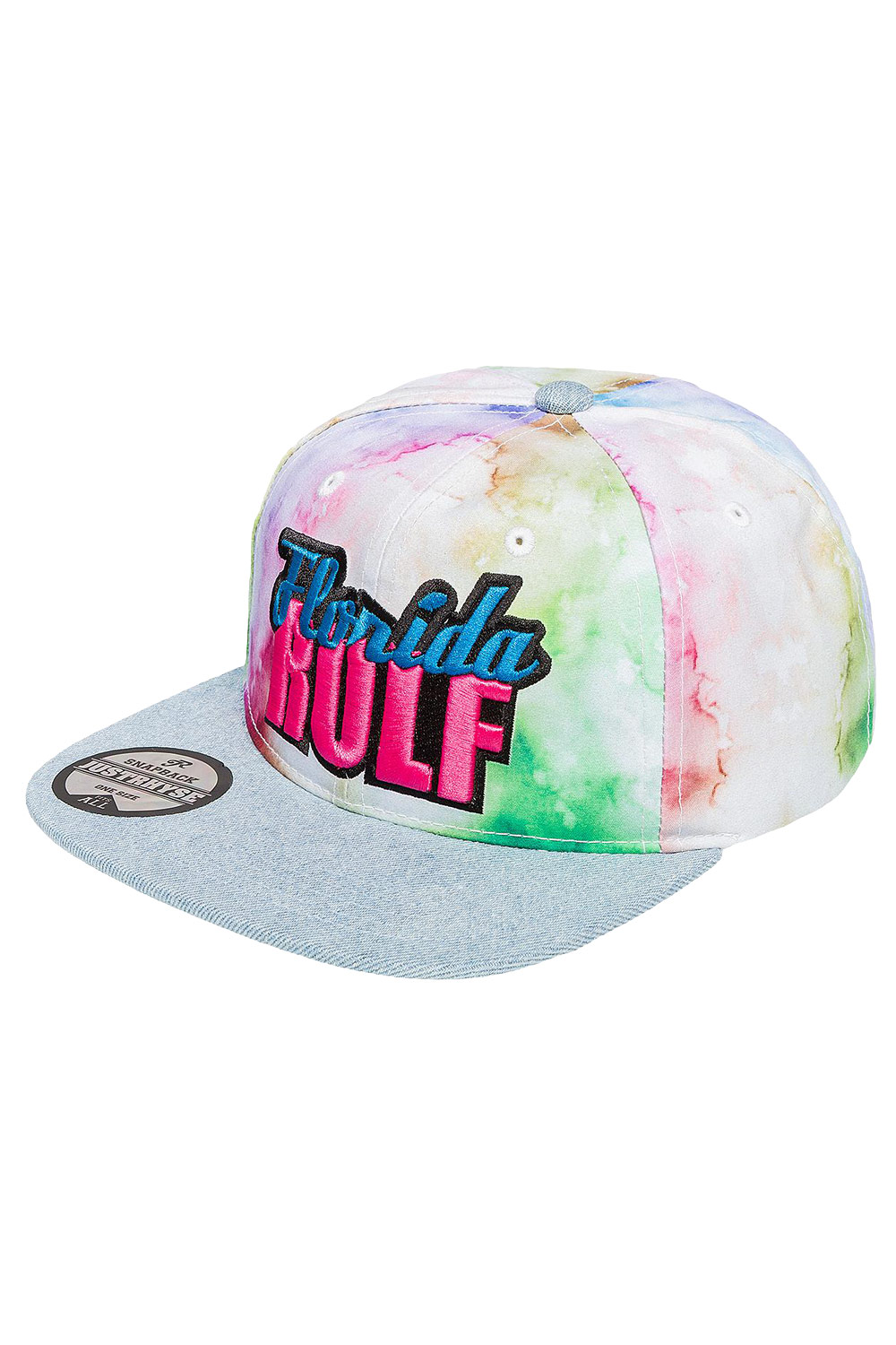 JUST RHYSE Florida Rolf Snapback Cap Colored at oboy.com