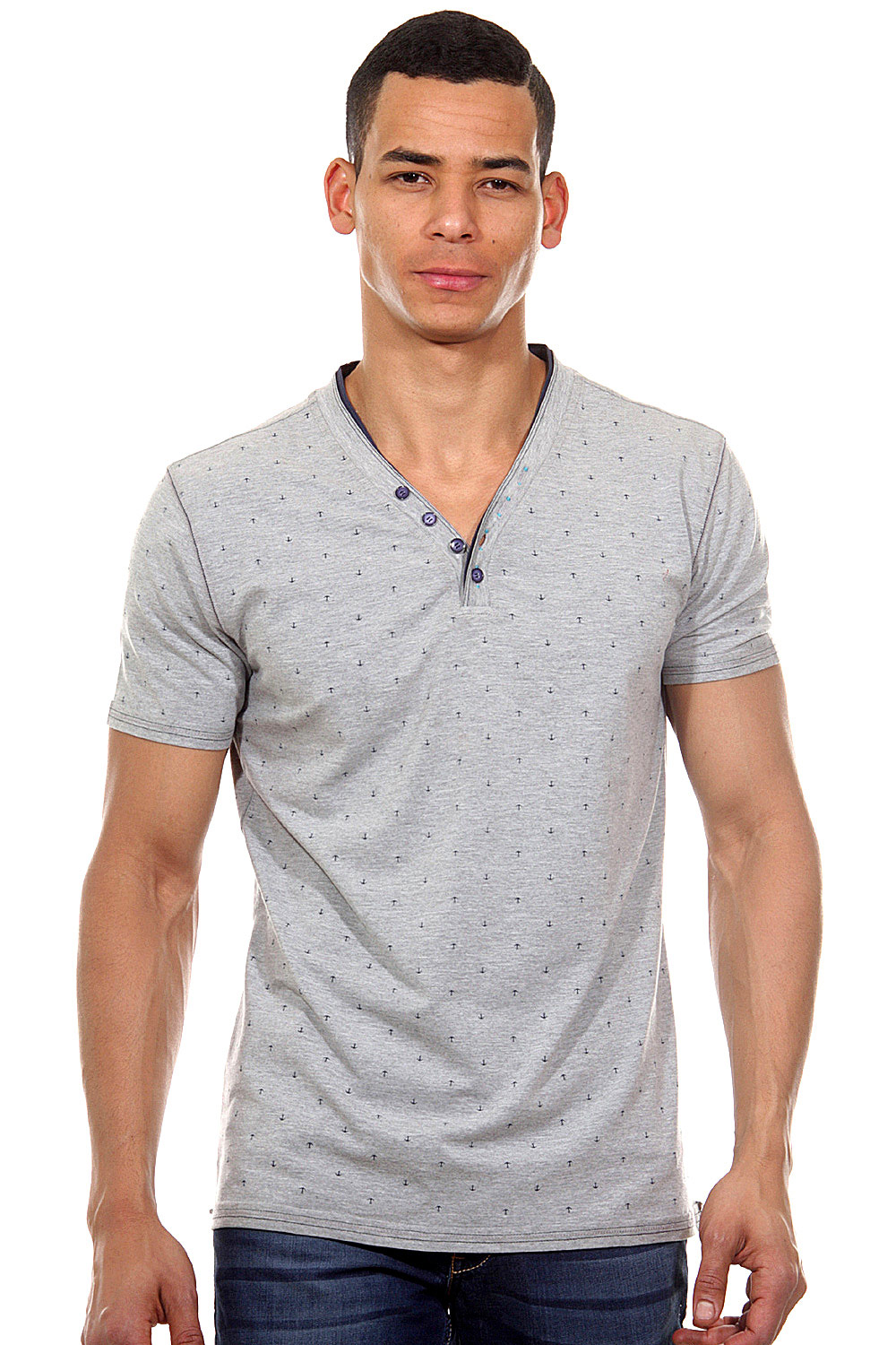 MCL henley t-shirt slim fit at oboy.com