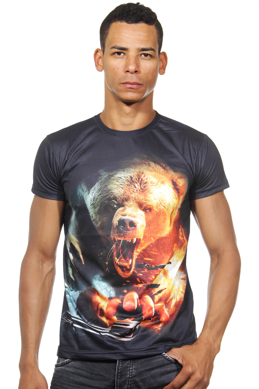 DARKZONE t-shirt r-neck slim fit at oboy.com