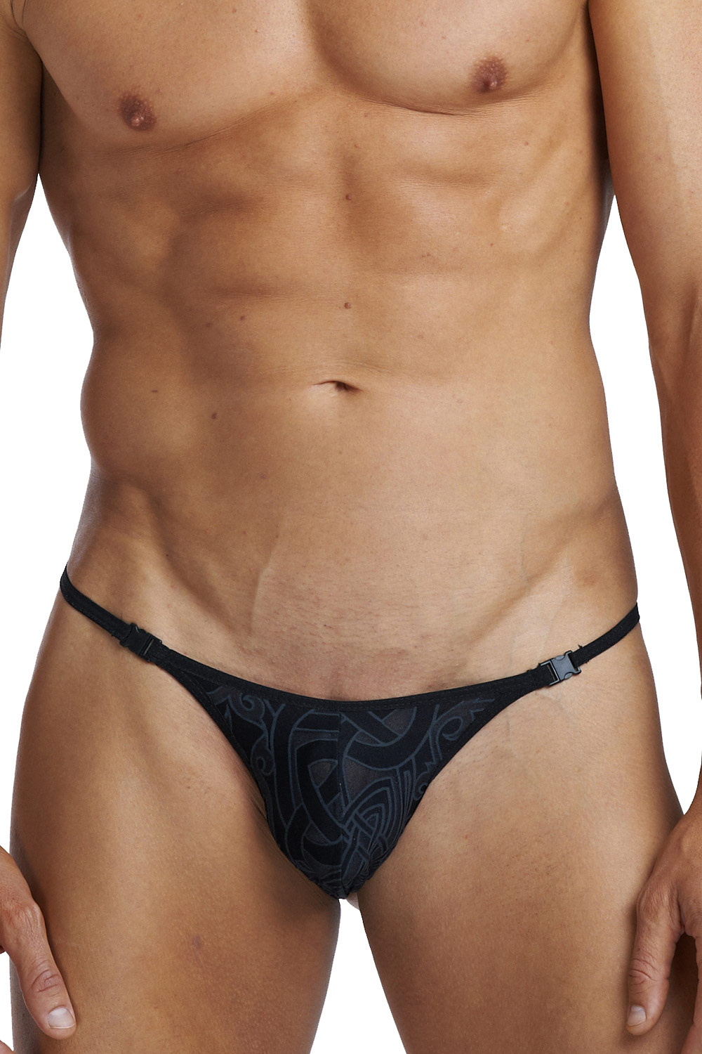 L´HOMME INVISIBLE DEVORE TATTOO thong at oboy.com