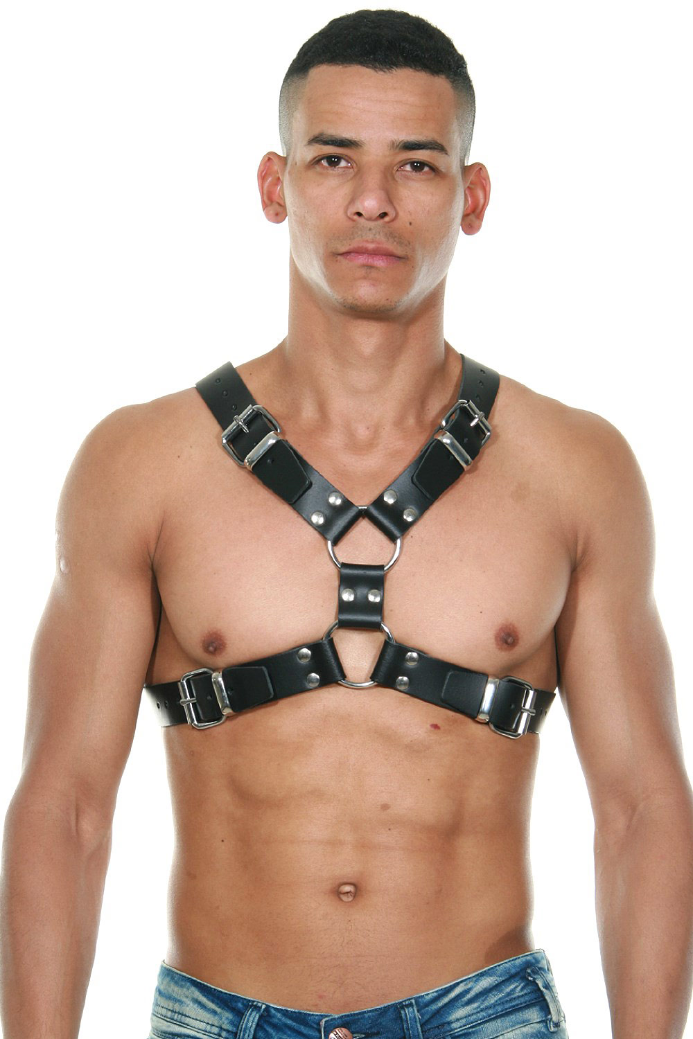 MISTER B Leather Y-Front Harness at oboy.com