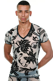 L`HOMME INVISIBLE VELOURS et LUXURE T-shirt at oboy.com
