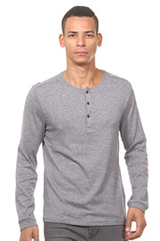 TOM TAILOR henley long sleeve top at oboy.com