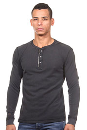 TOM TAILOR henley long sleeve top regular fit at oboy.com