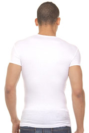 DOREANSE ribbed t-shirt r-neck slim fit at oboy.com