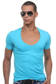 DOREANSE deep v-shirt at oboy.com