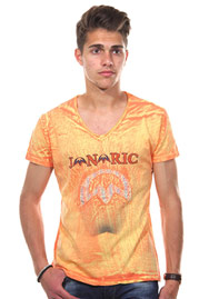 T-Shirt V-Ausschnitt orange JENERIC at oboy.com