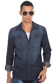 XINT long sleeve jeansshirt regular fit at oboy.com