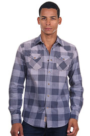 AGLIO & OLIO long sleeve jeansshirt slim fit at oboy.com