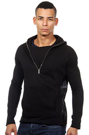 OPEN hooded sweater slim fit at oboy.com