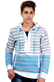 BRADLEY hoodie with zip regular fit at oboy.com