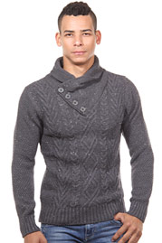 R-NEAL jumper shwal collar slim fit at oboy.com