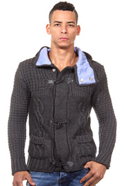 R-NEAL hoodie cardigan slim fit at oboy.com