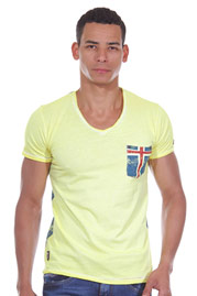 R-NEAL t-shirt v-neck slim fit at oboy.com