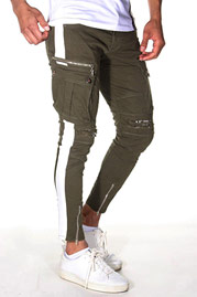 BRIGHT Ankle-Cargo trousers at oboy.com