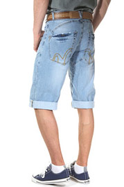 BRIGHT DENIM shorts 3/4 at oboy.com