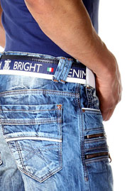 BRIGHT LIMITED EDITION denim shorts at oboy.com