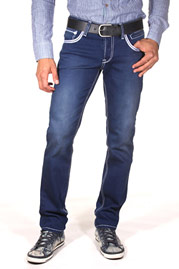 BRIGHT FASHION hip jeans (stretch) at oboy.com