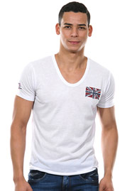 MCL t-Shirt v-neck regular fit at oboy.com