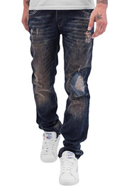 CAZZY CLANG  Shattered Straight Fit Jeans Blue at oboy.com