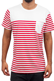 CAZZY CLANG Strong T-Shirt Red/White *BWARE* at oboy.com