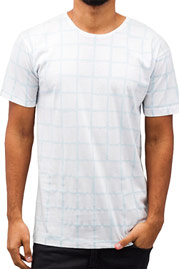 CAZZY CLANG Checked III T-Shirt White at oboy.com