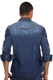 CATCH long sleeve jeansshirt regular fit at oboy.com