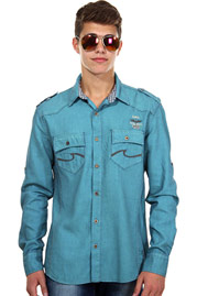 CATCH long sleeve jeansshirt slim fit at oboy.com
