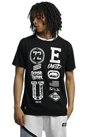 ECKO UNLTD. College Patches T-Shirt Black at oboy.com