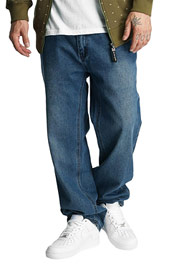 ECKO UNLTD. Naboo Baggy Fit Jeans Mid Blue at oboy.com