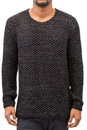 JUST RHYSE Knit Sweater Black/Antracite at oboy.com