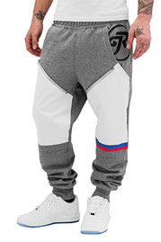 JUST RHYSE Pio Sweat Pants Grey/White at oboy.com