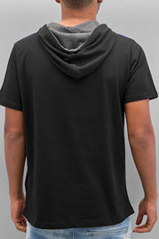 JUST RHYSE Hooded T-Shirt Black at oboy.com