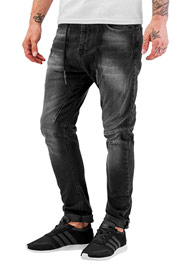 JUST RHYSE Yashar Antifit Jeans Black at oboy.com