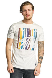 JUST RHYSE Palm Springs T-Shirt Off White at oboy.com